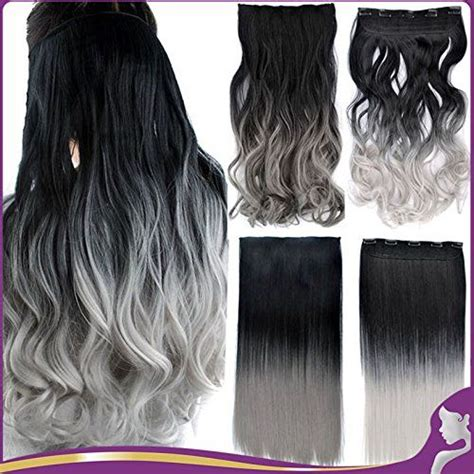 24 130g Ombre Color Synthetic Hair Extension Silky