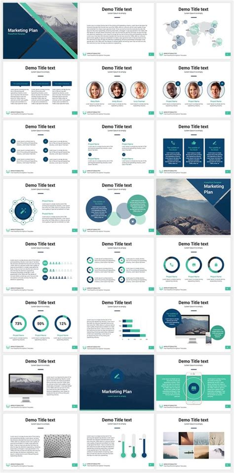 business infographic marketing plan  keynote