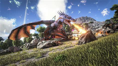 ark survival evolved fire breathing dragon wallpaper