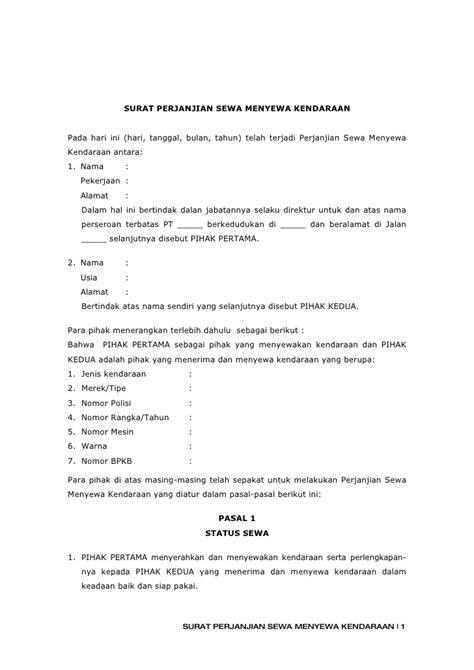 contoh surat kuasa roya contoh hu