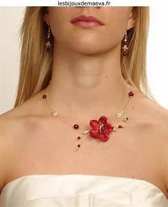 Bijoux mariage pas cher collier fantaisie fleur bordeaux for Collier fleur mariage