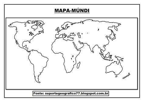 Mapa Mundo Para Colorir