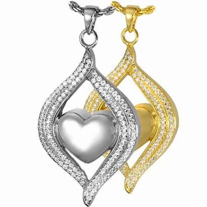 Jewelry Cremation Heart Teardrop Ribbon Urn Pendant