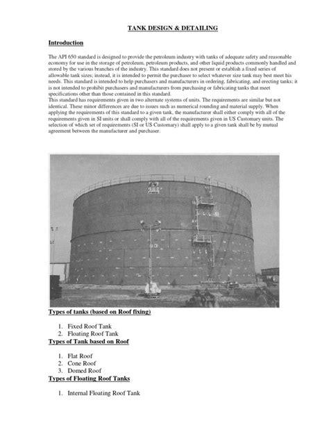 TANK Design Detailing | Structural Steel | Steel