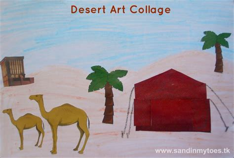Desert Collage Art