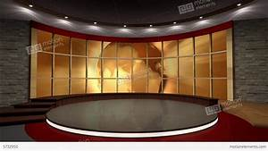 News TV Studio Set 39 Virtual Green Screen Backgro Stock ...