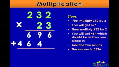 multiplication   digits math lesson