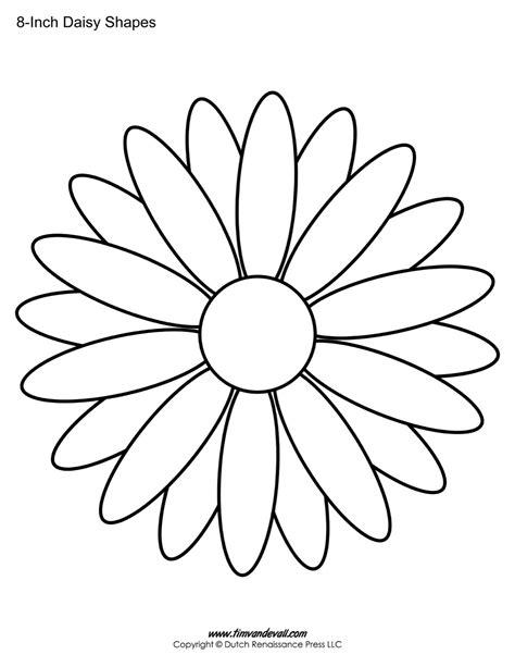 printable daisy templates daisy shape flower pdfs