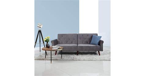 Divano Roma Furniture Modern Tufted Velvet Splitback Futon