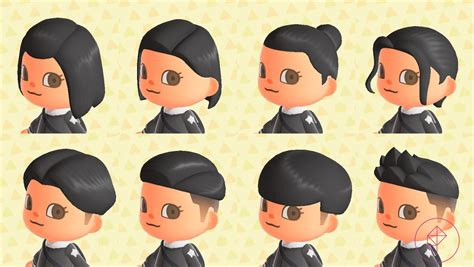 animal crossing  horizons switch hair guide polygon