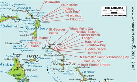 bahamas wannasurfcom atlas mondial de spots de surf