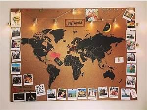 Carte Du Monde En Liège : d co salon carte du monde en li ge pour accrocher des photos de nos voyages ~ Teatrodelosmanantiales.com Idées de Décoration