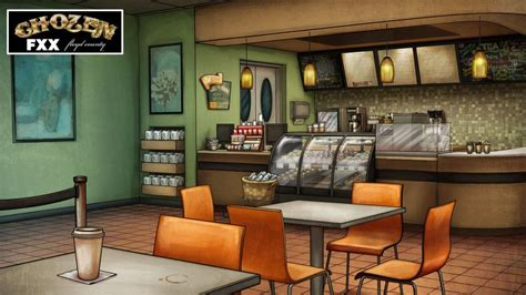 Cartoon background animation background art background episode interactive backgrounds episode backgrounds environment concept art environment design nikola 3d starbucks coffee shop interior modeled and textured in 3dsmax, rendered in mental ray, and composited in photoshop. Chozen Coffee Shop Background by katstockton.deviantart ...