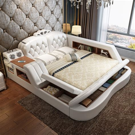 usd  massage leather bed tatami bed leather bed