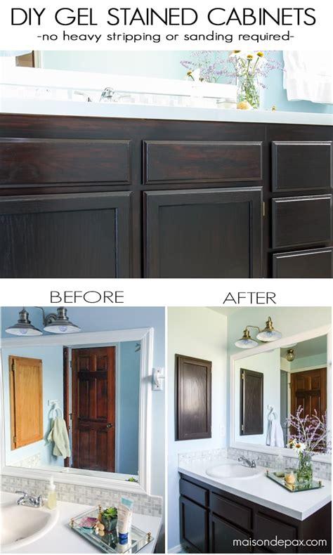 diy gel stain cabinets  heavy sanding  stripping