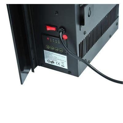homcom wall mount vertical electric fireplace black