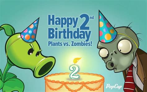 Wallpaper Of Birthday Card 2 by Plants Vs Zombies 2 Pvsz2 Birthday Edible Cake Topper