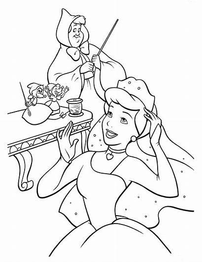Cinderella Coloring Disney Carriage Prince Princess Cenerentola
