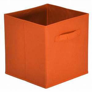 Boite Rangement Tiroir : panier tiroir orange mona ~ Teatrodelosmanantiales.com Idées de Décoration