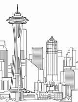 Needle Space Colorear Dibujo Coloring Dibujos Washington Edificios Categorias sketch template