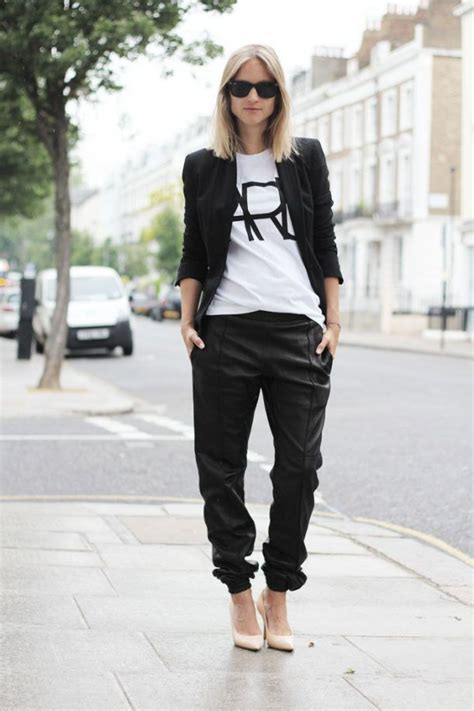 Baggy Leather Trousers For Women | WardrobeLooks.com
