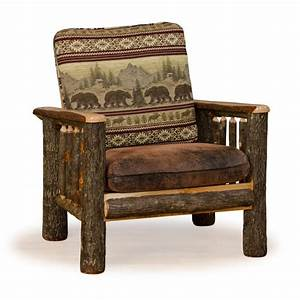 Rustic hickory and oak for Rustic living room chairs