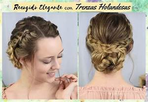4 Peinados recogidos elegantes para fiestas sencillos de hacer Peinados Lindos Y Faciles