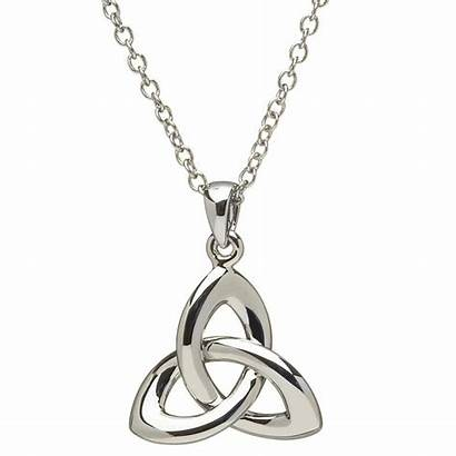 Celtic Knot Trinity Pendant Necklace Silver Jewelry