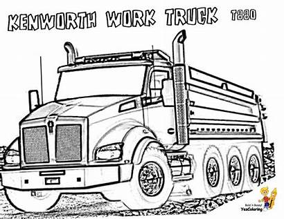 Coloring Truck Kenworth Dump Pages Trucks Boys