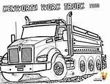 Coloring Truck Kenworth Pages Dump Trucks Boys Colouring Construction Semi Dirty Super Cabover Custom Books Template sketch template