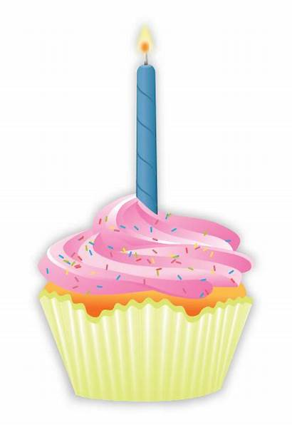 Cupcake Birthday Candles Clipart Svg Transparent Background