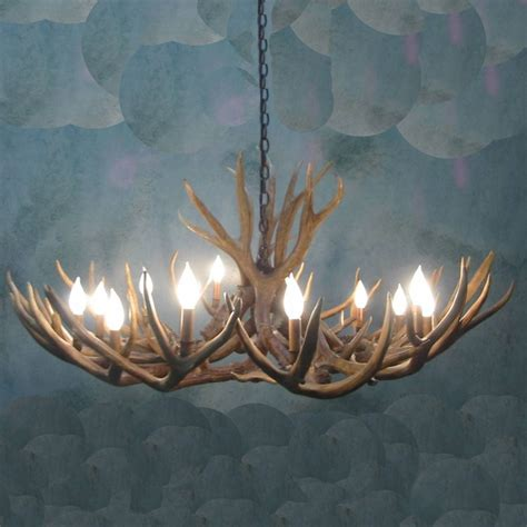 columbine mule deer antler chandelier 12 light