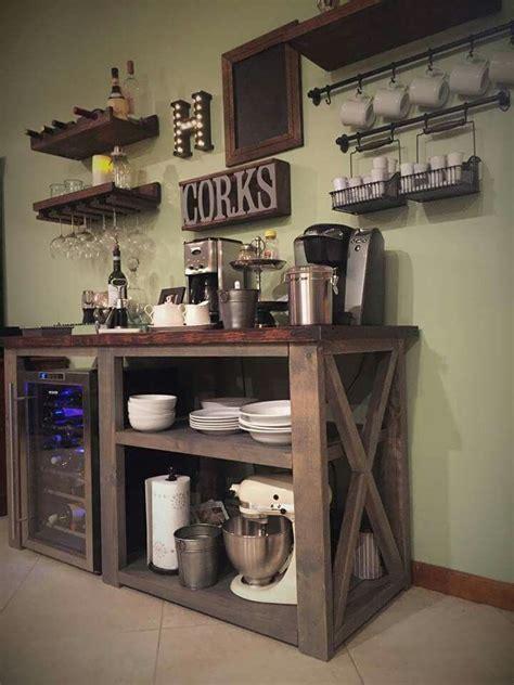 Anna White Coffee Bar  Home Decor  Pinterest  Small