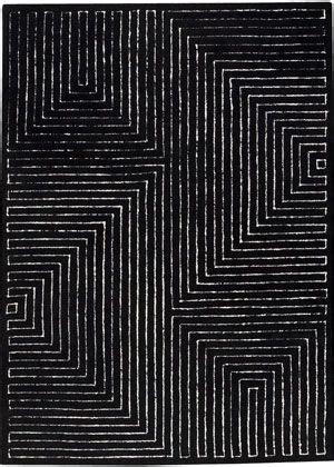 modernrugscom toledo black white modern rug black
