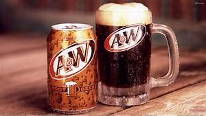 A And W Root Beer Can And Mug Wallpaper