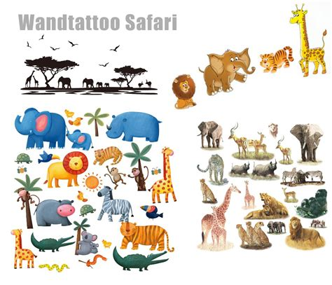 Wandtattoo Kinderzimmer Safari by Wandtattoo Safari Dschungel F 252 Rs Kinderzimmer