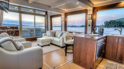 house boat interiors crossover yachts luxury houseboat cruising trimaran