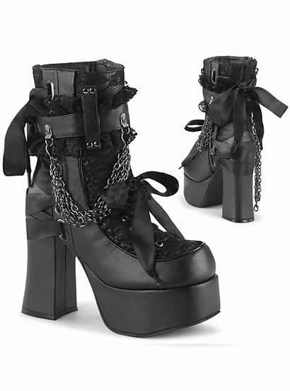 Boots Demonia Ankle Charade Platform Shoe