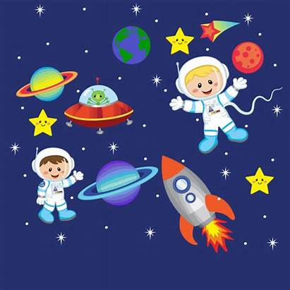 Space Outer Wall Clipart Age Children Cartoon