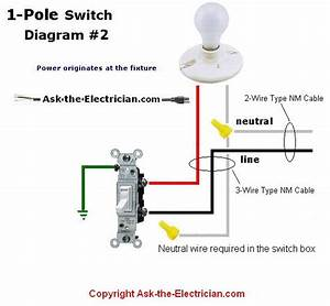 Wiring Diagram Single Pole Switch To Light Fixture
