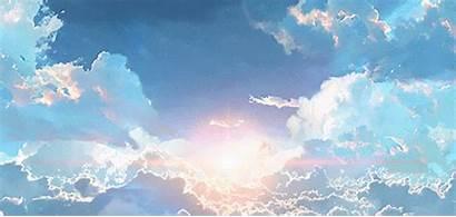 Anime Sky Aesthetic Scenery Animated