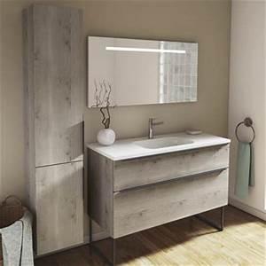 meuble salle de bains fuchsia brillant essento espace aubade With meubles salle de bain aubade