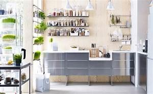 Ikea Küchen Zubehör : k che u a bestehend aus metod unterschr nken mit 3 grevsta fronten in edelstahl und 3 ~ Orissabook.com Haus und Dekorationen