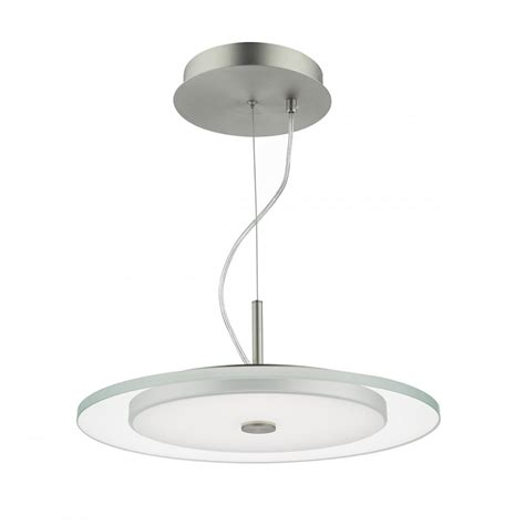 led glass pendant lights contemporary satin nickel and clear glass led ceiling pendant
