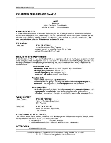 Communication Skills In A Resume by Resume Communication Skills Http Www Resumecareer