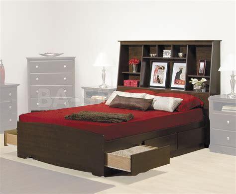 prepac fremont platform storage bed  bookcase