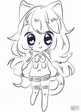 Coloring Anime Pages Kawaii Printable Paper Drawing sketch template