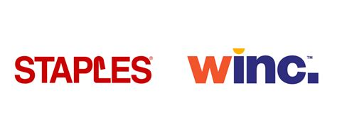 bureau en gros staples brand name logo and identity for winc by
