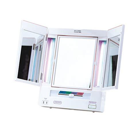 jerdon deluxe lighted makeup mirror