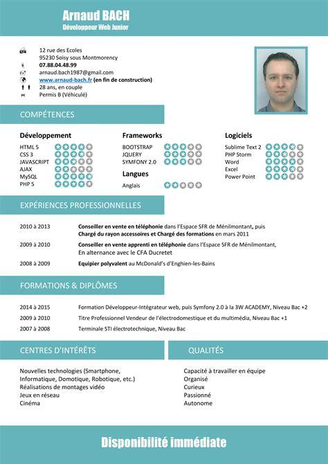 cv en ligne developpeur web